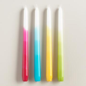 Ombre Taper Candle Collection